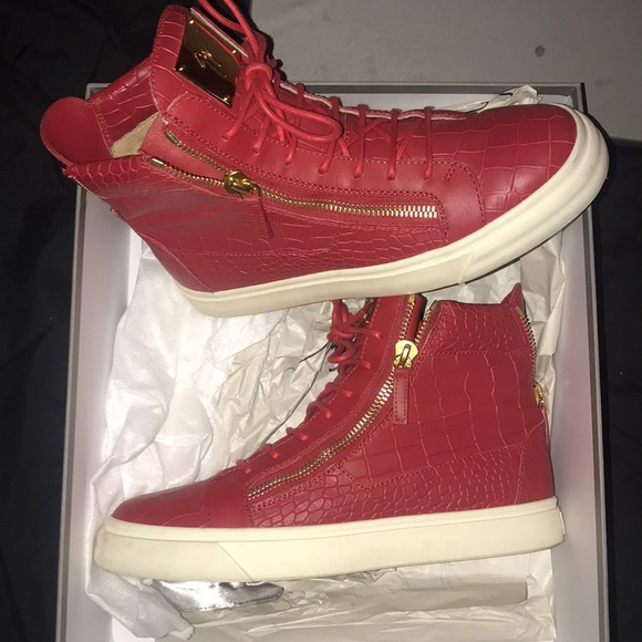 Top Giuseppe Zanotti High Red Sneakers oBCxed